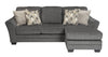 Braxlin Queen Chaise Sofa Bed - Charcoal