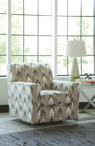 Braxlin Swivel Accent Chair - Charcoal