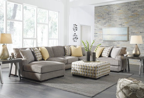 Fallsworth Chaise Sectional - Smoke