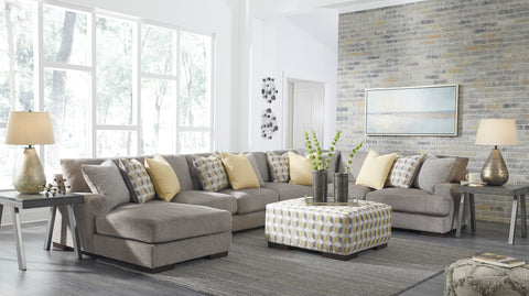 Fallsworth Long Chaise Sectional - Smoke
