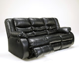 Linebacker DuraBlend Reclining Sofa - Black
