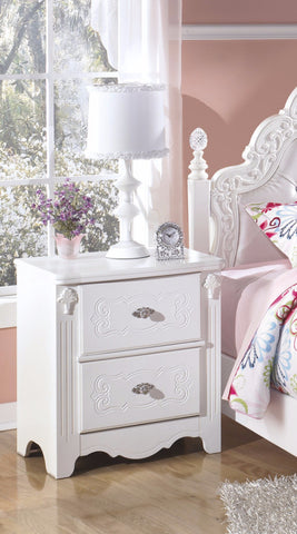 Exquisite Two Drawer Night Stand
