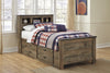 Trinell Bookcase Bed w/Underbed Storage