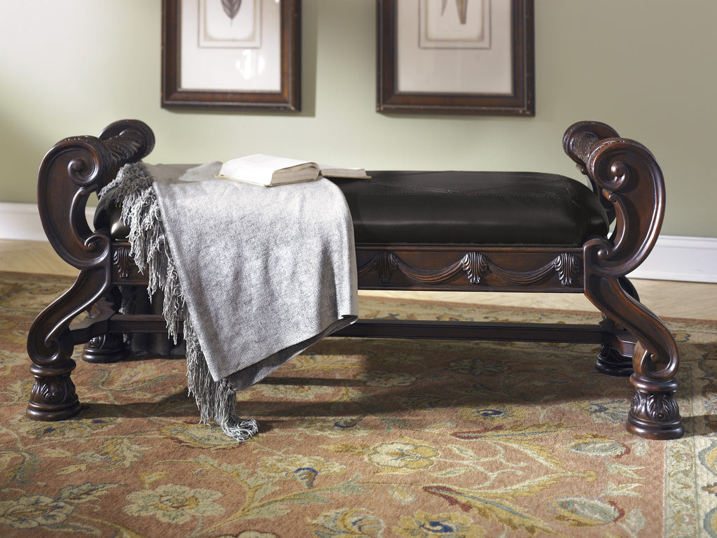 North Shore Large Upholstered Bedroom Bench