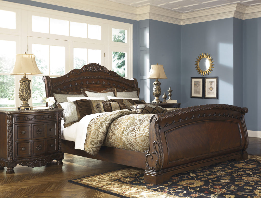 North Shore Sleigh Bed Frame