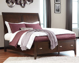 Evanburg Sleigh Bed with Storage Footboard