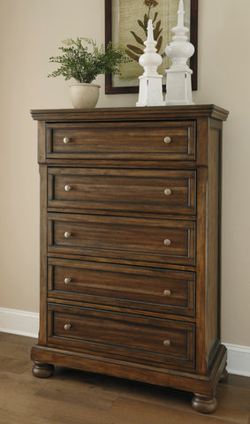 Flynnter Five Drawer Chest