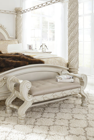 Cassimore Large Upholstered Bedroom Bench