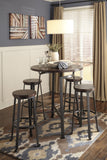 Challiman Bar Height Round Dining Value Set (5 pieces)