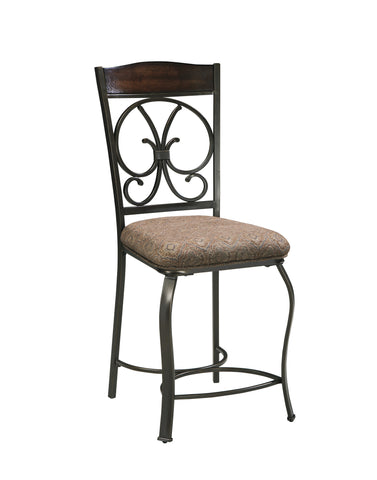 Glambrey Upholstered Counter Height Stools (Set of 4)