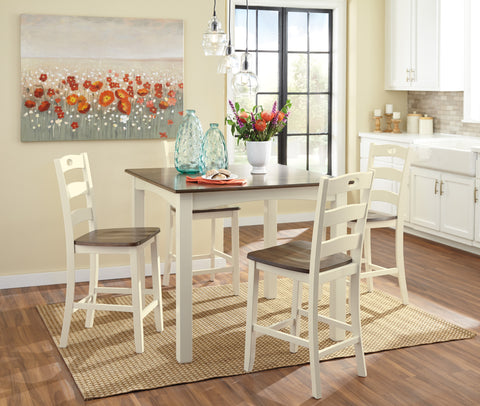 Woodanville Square Counter Dining Value Set (5 pieces)
