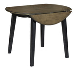 Froshburg Round Dining Room Drop Leaf Table