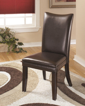 Charrell Dining Brown Upholstered Side Chair (Set of 2)