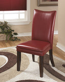 Charrell Dining Red Upholstered Side Chair (Set of 2)