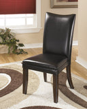 Charrell Dining Black Upholstered Side Chair (Set of 2)