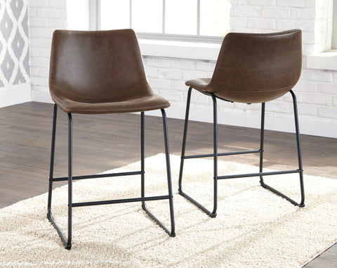 Centiar Upholstered Barstools (Set of 2) - Brown