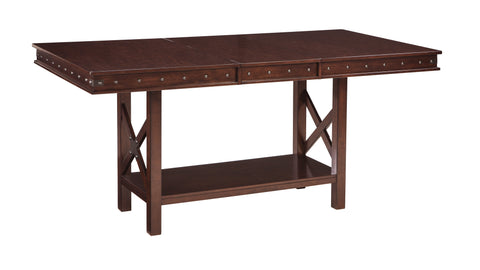 Collenburg Rectangular Dining Room Counter Height Extendable Table