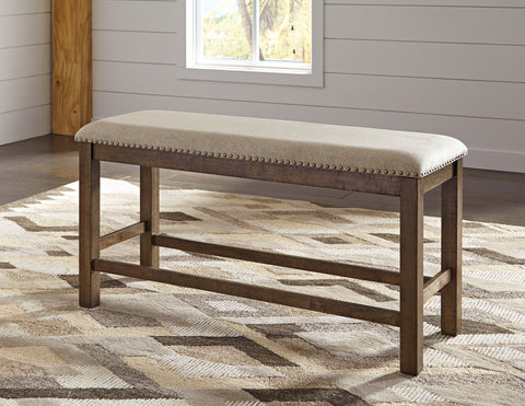 Moriville Upholstered Double Counter Height Bench