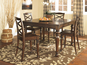 Porter Rectangular Dining Room Counter Height Extendable Table