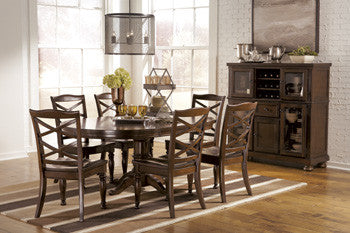 Porter Round Dining Room Extension Pedestal Table