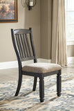 Tyler Creek Slat-Back Dining Upholstered Side Chair (Set of 2)