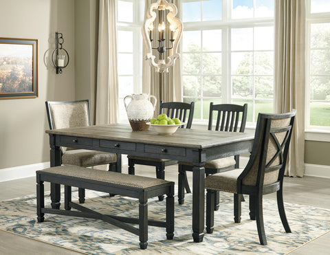 Tyler Creek Rectangular Dining Value Set w/Framed Back Chairs (6 pieces)