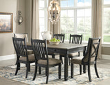 Tyler Creek Rectangular Dining Value Set w/Framed Back Chairs (7 pieces)