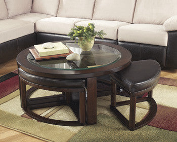 Marion Coffee Table with 4 Stools (5 pieces)