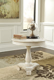 Mirimyn Round Accent Table - White