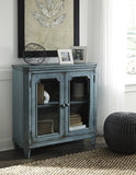 Mirimyn Two-door Accent Cabinet - Teal