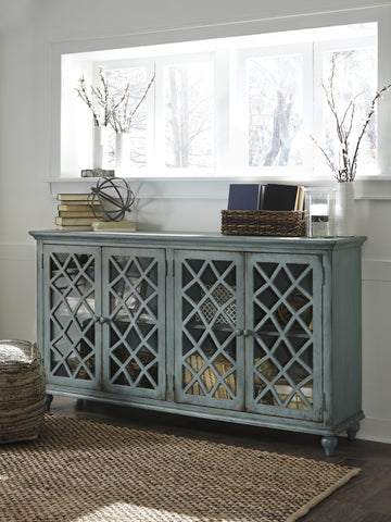 Mirimyn Four-door Accent Cabinet - Teal