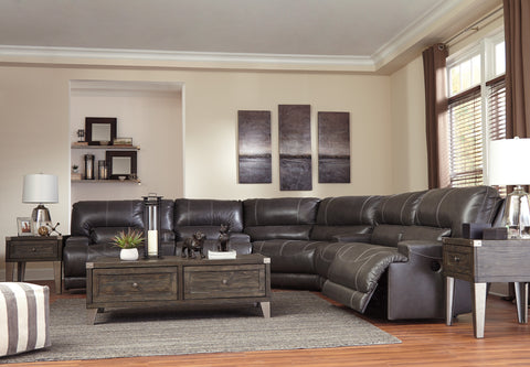 McCaskill Reclining Sectional w/Console - Gray