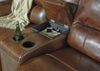 Jayron Double Reclining Power Loveseat with Storage - Harness