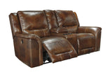 Jayron Double Reclining Loveseat with Storage - Harness