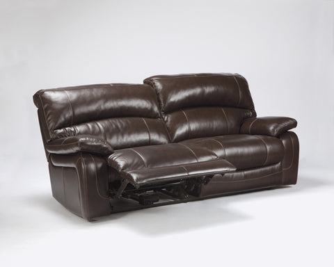 Damacio 2 Seat Reclining Sofa - Dark Brown