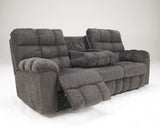 Acieona Reclining Sofa with Storage - Slate