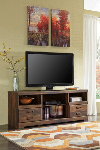 Quinden Large TV Stand w/Fireplace Option