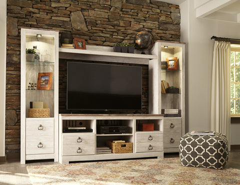 Willowton Media Entertainment Center w/Fireplace and Audio Options