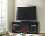 Shay Large TV Stand w/Fireplace Option