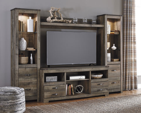 Trinell Media Entertainment Center w/Fireplace Option