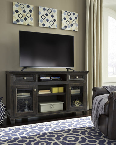 Townser Large TV Stand w/Fireplace Option