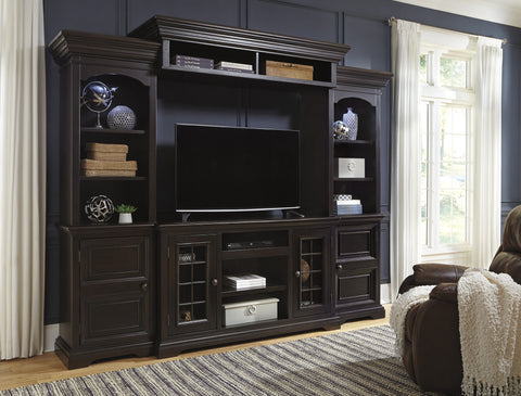 Willenburg Media Entertainment Center w/Fireplace and Audio Options