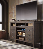 Trudell Extra Large TV Stand w/Fireplace Option