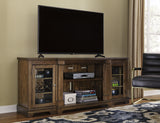 Flynnter Extra Large TV Stand w/Fireplace Option