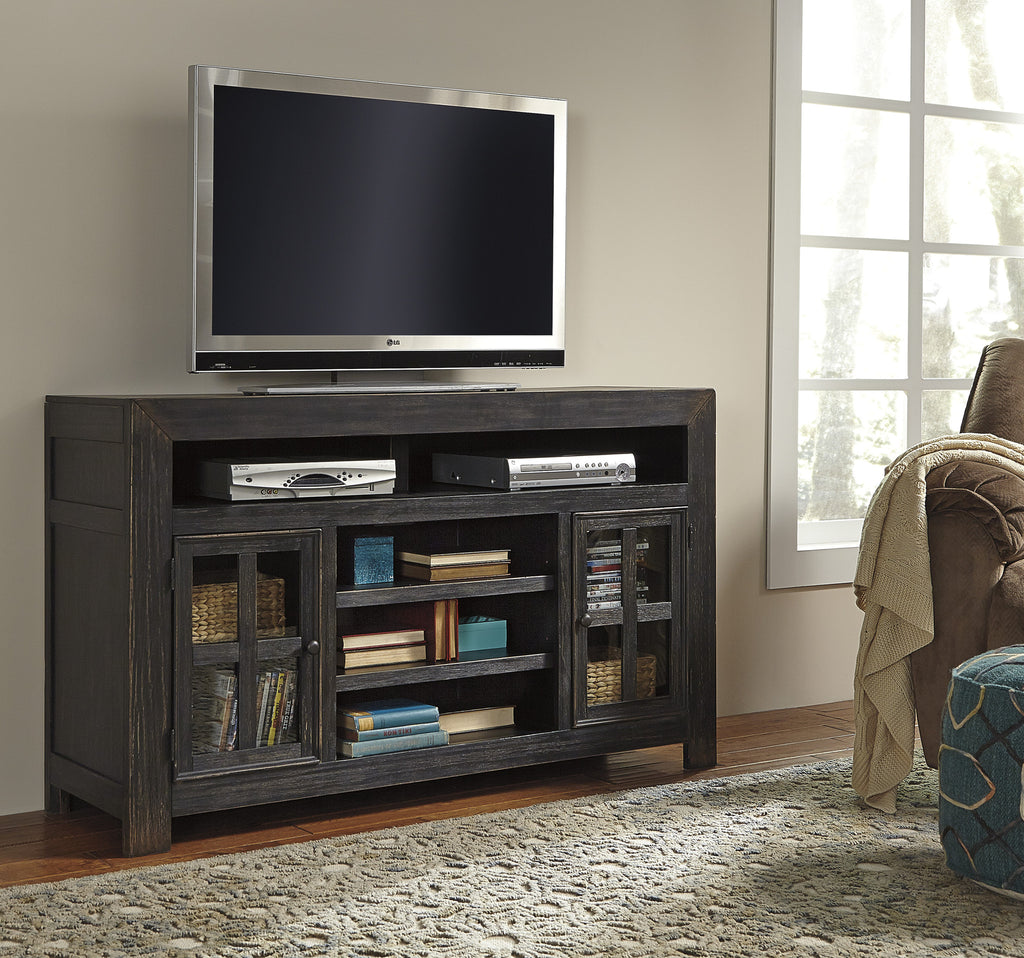 Gavelston Large TV Stand w/Fireplace Option