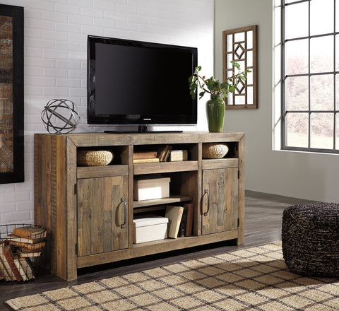 Sommerford Large TV Stand w/Fireplace and Audio Options