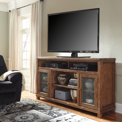 Tamonie Extra Large TV Stand w/Fireplace Option