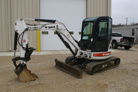 Bobcat 430 Mini Excavator with thumb attachment