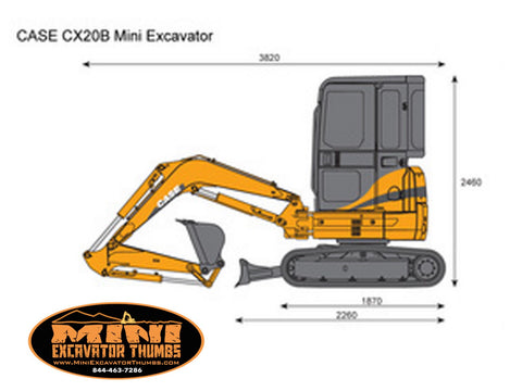 Case CX20 B Mini Excavator Specs