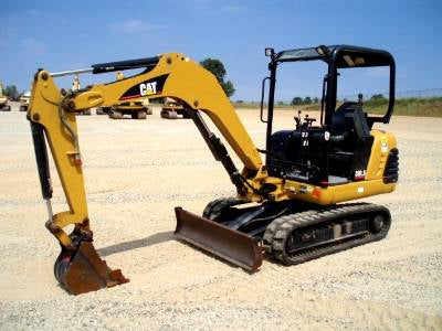 Caterpillar 302.5 Mechanical and Hydraulic Mini Excavator Thumb